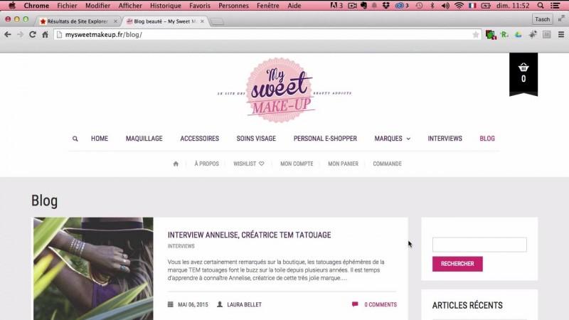 Particularités pour un site e-commerce