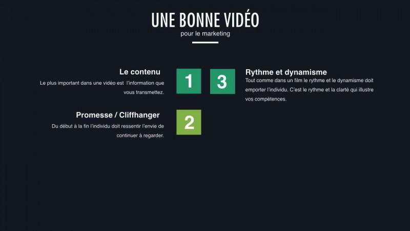 Les ingrédients d'une bonne vidéo en Marketing