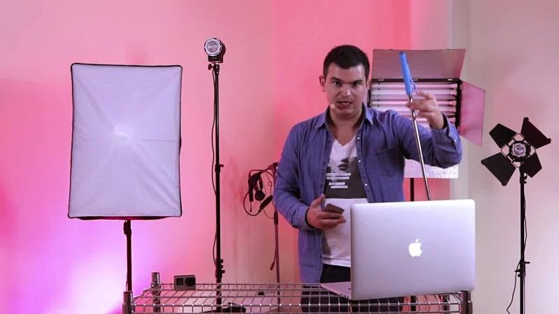 Tournage d'une vidéo pour les réseaux sociaux avec une Gopro
