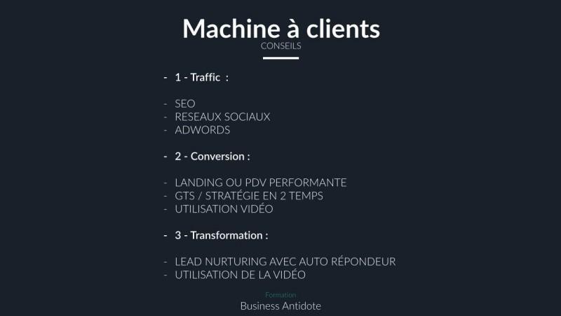 Conseils pour créer une machine à clients