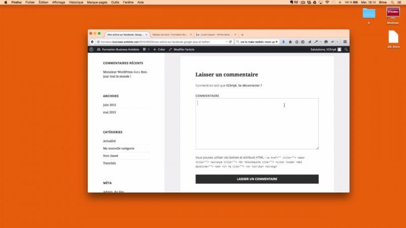 La gestion des commentaires d'articles dans WordPress ?