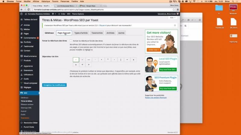Personnaliser les méta-données de la page d'accueil