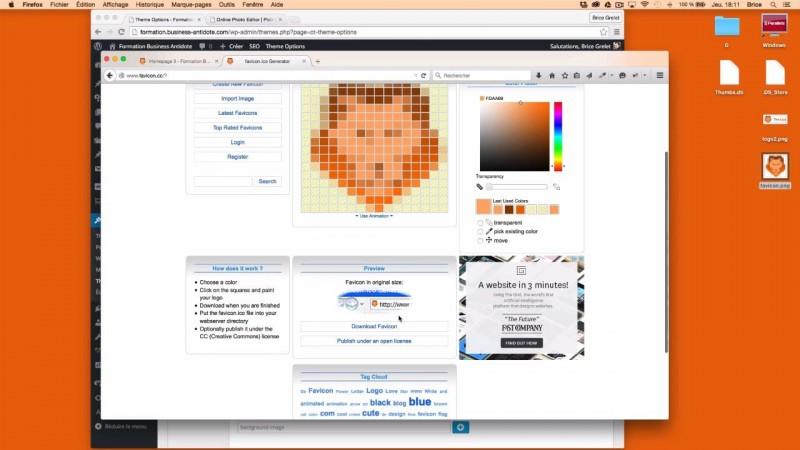 Générer et personnaliser le favicon WordPress