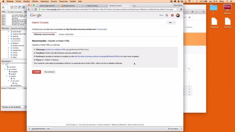 Enregistrer son site internet sur Google Search Console