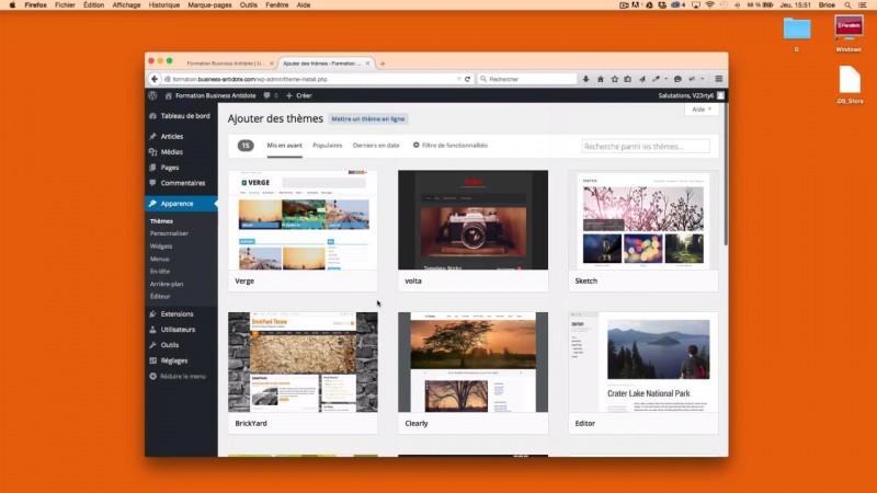 Les thèmes dans WordPress
