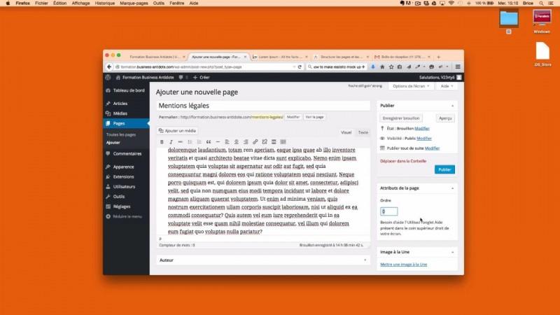 Comment créer une page dans WordPress ?